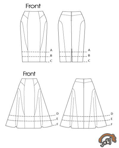 مدل لباس بلوز و دامن زنانه 8