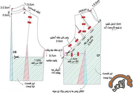 آموزش دوخت کت کوتاه زنانه  2015-266